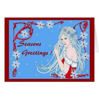 Cartão Flocos de neve de cristal