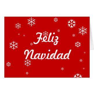 Cartão Flocos de neve de Feliz Navidad