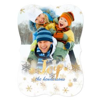 Cartão Flocos de neve de PixDezines/ouro/prata/cartões de