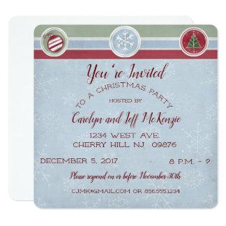 Cartão Flocos de neve e festa de Natal das árvores
