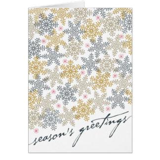 Cartão Flocos de neve festivos