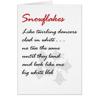 Cartão Flocos de neve - um poema engraçado do Natal