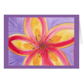 Cartão Flor abstrata da aguarela