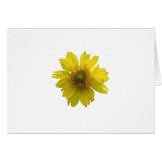 Cartão Flor amarela
