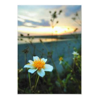 Cartão flor bonita