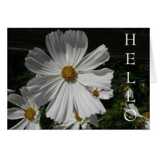 Cartão flor branca