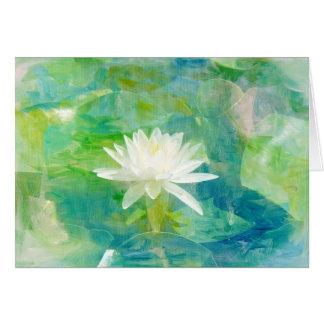 Cartão Flor branca de Waterlily