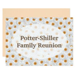 Cartão Flor branca personalizada/Sepia da camomila