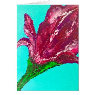 Cartão Flor cor-de-rosa
