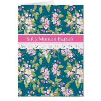 Cartão Flor cor-de-rosa de cumprimento de Galês Apple do