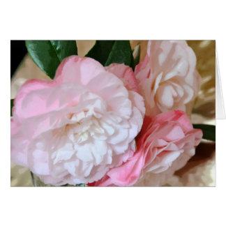 Cartão Flor da camélia