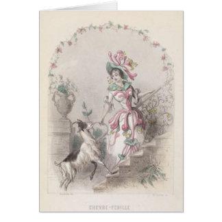 Cartão Flor da erva daninha das cabras