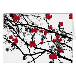 Cartão Flor de cerejeira