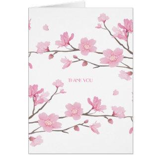 Cartão Flor de cerejeira - Fundo-OBRIGADO branco VOCÊ