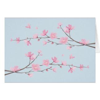 Cartão Flor de cerejeira - Transparente-Fundo