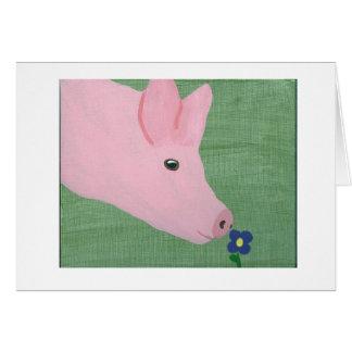 Cartão Flor de cheiro do porco