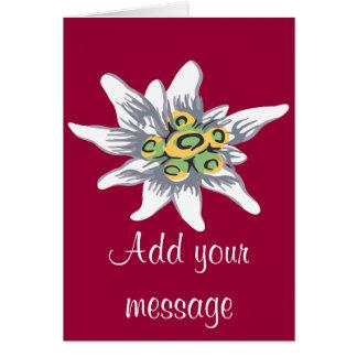 Cartão Flor de Edelweiss