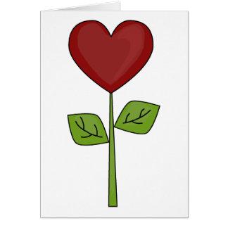 Cartão Flor de florescência do coração - amizade