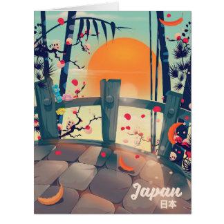 Cartão Flor de Japão do poster das férias da flor de