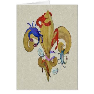 Cartão Flor de lis de Cajun