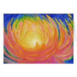 Cartão Flor de Lotus abstrata