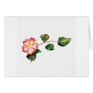 Cartão Flor delicada tirada mão