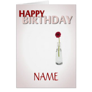 Cartão Flor do aniversário