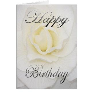 Cartão Flor do aniversário no branco