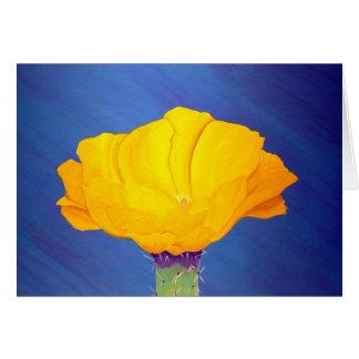 Cartão Flor do cacto de pera espinhosa