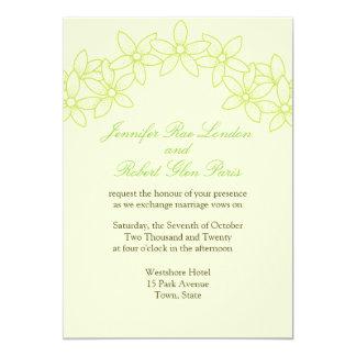 Cartão Flor do casamento do jardim dos noivos floral
