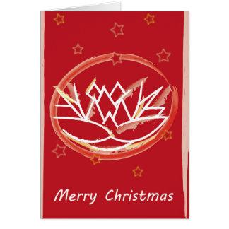 Cartão Flor do Feliz Natal