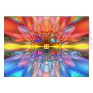 Cartão Flor do laser