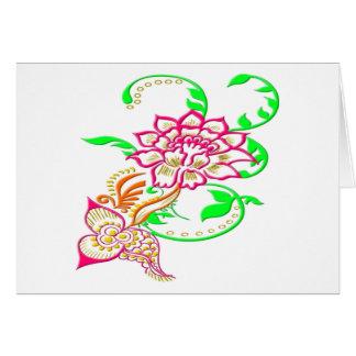 Cartão Flor do tatuagem
