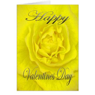 Cartão Flor dos namorados no amarelo