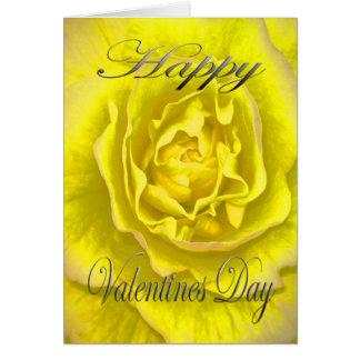 Cartão Flor dos namorados no amarelo e no rosa