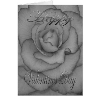 Cartão Flor dos namorados preto e branco