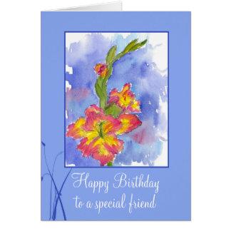 Cartão Flor especial do tipo de flor do amigo do feliz