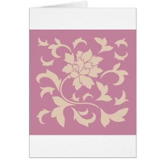 Cartão Flor oriental - café Latte & morango