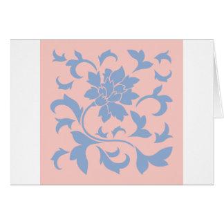 Cartão Flor oriental - quartzo azul & cor-de-rosa da