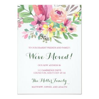Cartão Flor que colorida da aguarela nós nos movemos