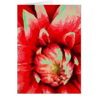 Cartão Flor vermelha grande