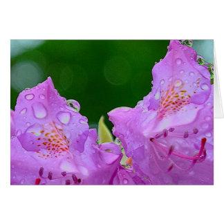 Cartão Flor violeta