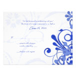 Cartão floral abstrato da resposta do azul e do br convite