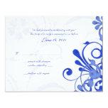 Cartão floral abstrato da resposta do azul e do convite