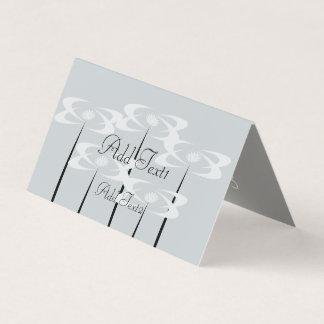 Cartão floral azul Pastel branco bonito das flores