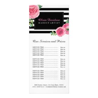 Cartão floral bonito da cremalheira da tabela de 10.16 x 22.86cm panfleto