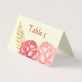 Cartão De Mesa Cartão floral bonito do lugar
