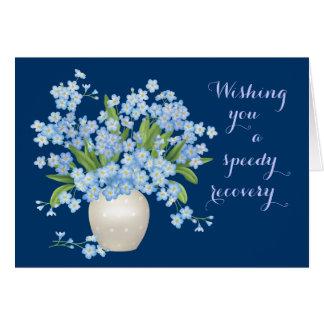 Cartão Floral bonito obtem desejos bons