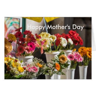 Cartão floral brilhante do dia das mães
