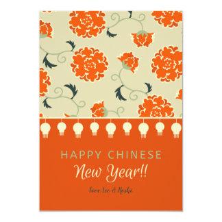 Cartão floral chinês do feriado do ano novo